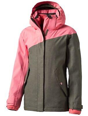 nder Freizeit Doppeljacke 3 in 1 Jacke Moto olive pink (Mädchen Moto Jacke)