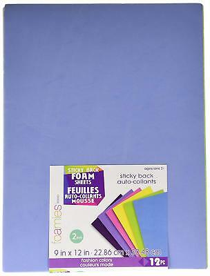 Darice Foamies Sticky Back Foam Sheets Fashion Colors 12 pc Package