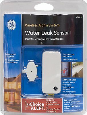 GE Choice Alert Wireless Alarm System Water Leak Sensor New