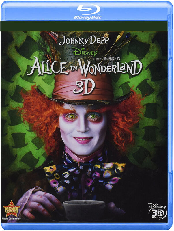 Alice in Wonderland [3D Blu-ray] ~ Johnny Depp ~ Factory Sealed ~ NEW!