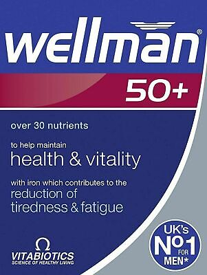Vitabiotics Wellman Multi Vitamins Mineral for Men 50+ ==> UK NO.1 VITAMIN BRAND