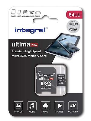 64GB PREMIUM HIGH SPEED MICROSDXC V30 UHS-I U3 for DRONES, ACTION-CAM, CAMERAS