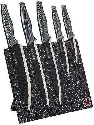 Grand Collection Stainless Steel 6-Piece Knife Set with Magnetic Knife Block