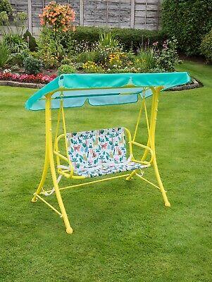 Kids 2 Seat Garden Swing Seat - Jungle Animal Design