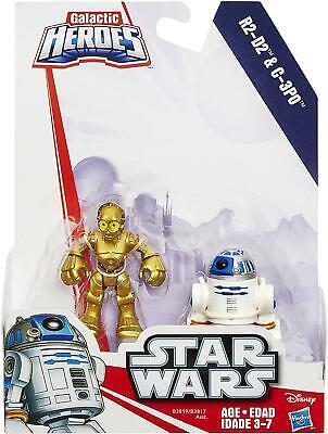 Playskool Disney Star Wars Galactic Heroes 2pk  - R2-D2 and C-3P0 Action Figures
