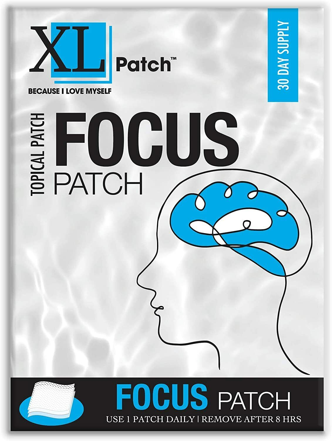 XLPatch Focus Patch Topical Patch - Improves Memory and Enhances Focus - 30 Day