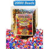 20000 Water Beads Crystal Gel Balls Pearls Jelly Gel Beads for Orbeez Toy Refill