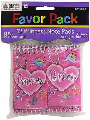 12 x MINI PADS PRINCESS GIRLS PARTY BAG TOYS LUCKY DIP SHOP PINATA JOB LOT NEW