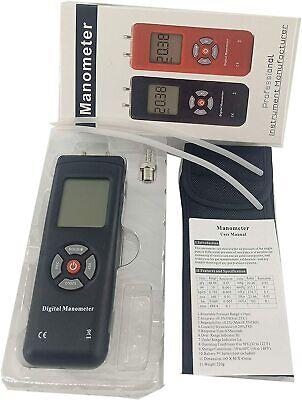 Digital Air Pressure Gauge Differential Pressure Meter Manometer 2psi