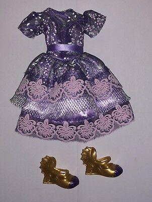 Disney Descendants Coronation Day Mal Doll Outfit Purple Cocktail Dress NEW Isle