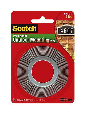 3m 4011 Scotch Exterior Mounting Tape 1-inch By 60-inch