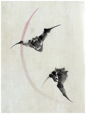 1455.Bats.Asian Design Art Japanese POSTER.Graphics to decorate home (Office Graphics Design)