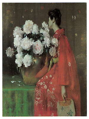 1189 White Flowers. Asian Art Decoration POSTER.Graphics to decorate home office ()