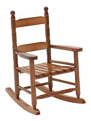 Kids Wood Rocking Chair - Oak Classic Childrens Rocking Chair Wood Toddler Indoor Outdoor Toy Seat Rocker