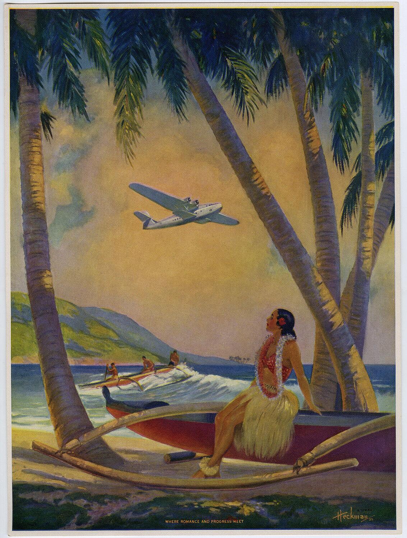 Heckman 1941 Hula Pin-Up Print Where Romance ...