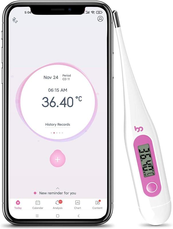 Femometer Basalthermometer zur Zykluskontrolle und Eisprung, Fruchtbarkeit Therm