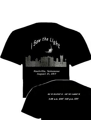 2017 Nashville Total Solar Eclipse T Shirt Limited Edition Post Eclipse Special
