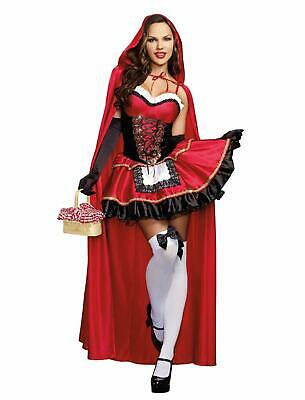 Little Red Riding Hood Fairy Tale Storybook Fancy Dress Halloween Adult Costume