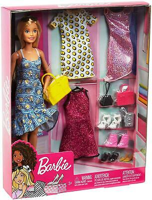 Barbie Doll GDJ40 Floral Dress Yellow Bag, Clothes, Accessories(Box damaged)
