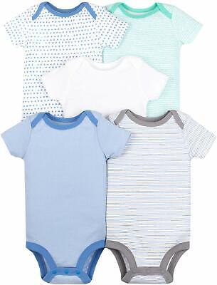 Lamaze Organic Baby 5 Pack Shortsleeve Bodysuits - Multi - Size 12 Months