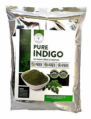 100% Natural, Pure, Organic, Indigo Powder for Hair Dye/Color 100 Grams