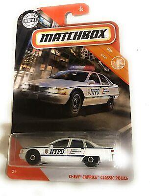 2020 Matchbox Chevy Caprice Clasic Police #7/100 [White] MBX City