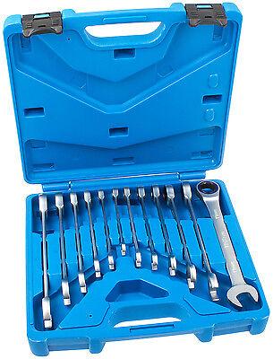 Ring Ratschenschlüssel 12-tlg. Feinzahn Ratschen Ringschlüssel Satz Werkzeug Set