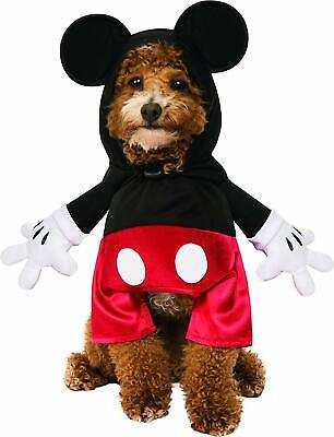 Mickey Mouse Disney Cartoon Classic Fancy Dress Halloween Dog Cat Pet Costume - Dog Mickey Mouse Costume