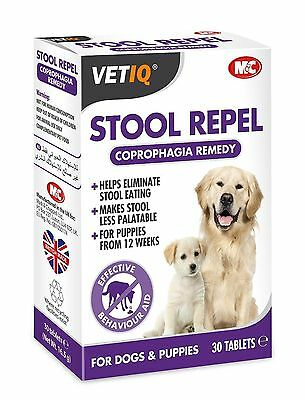 VetIQ Stool Repel 30 Tabs - Coprophagia Aid, Behaviour Aid, Stops Poo Eating
