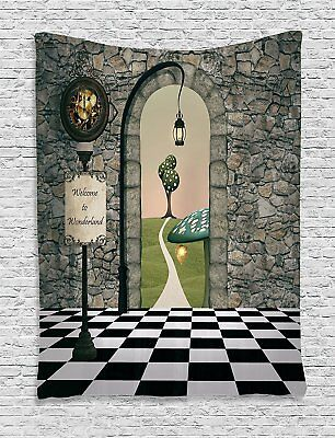Alice In Wonderland Scene Setter; Mad Hatter Tapestry Decorations; Baby - Baby Shower Scene Setters