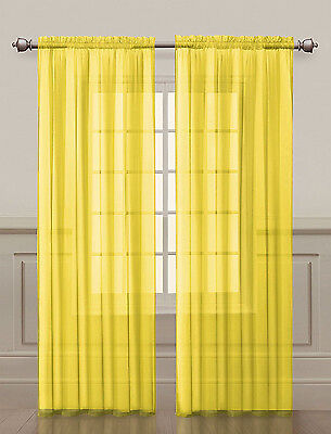 2 Pack: Luxurious Voile Sheer Curtain Panels by Regal Home - Assorted Colors