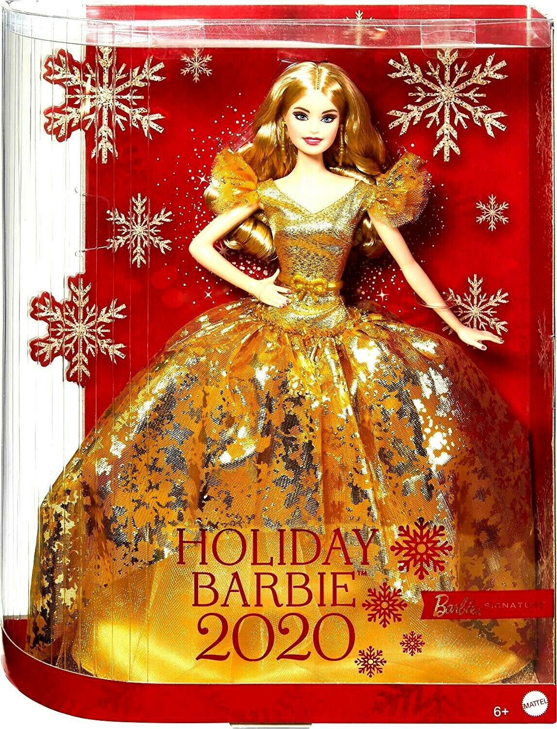 Barbie Signature 2020 Holiday Barbie Doll 12-inch Blonde Long Hair In Golden  - $49.33
