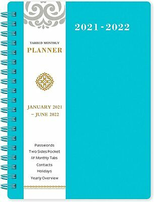 Agenda Planner Organizer 2021-2022 Monthly Schedule Appointment Book With Tabs