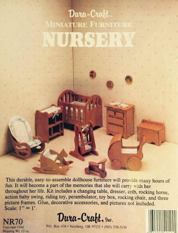 Duracraft Miniature Dollhouse Nursery Furniture