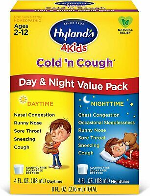 Hyland's 4 Kids Cold and Cough Day and Night Value Pack, Nat