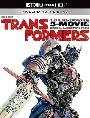 Transformers The Ultimate 5-Movie Collection & Bumblebee (4K UHDs ONLY & CASES)