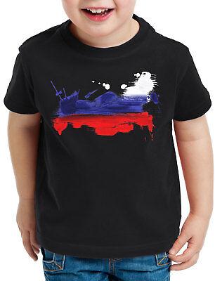 Russland T-Shirt Kinder Fußball Sport WM EM Fahne National-Flagge Fan-Artikel