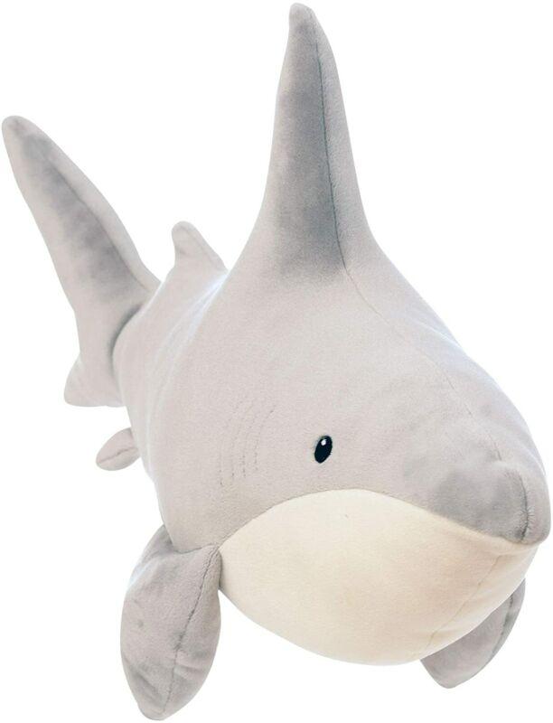 "Manhattan Toy Snarky Sharky Velveteen Sea Life Toy Shark Stuffed Animal, 16"""