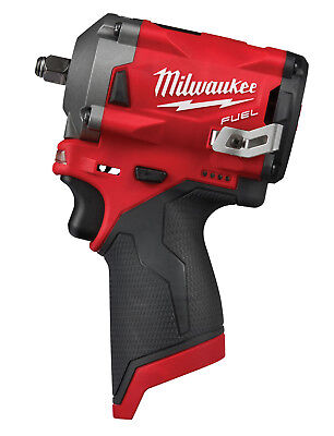 """Milwaukee M12 FUEL 3/8"""" dr Stubby Impact Wrench 250 ft-lbs, Bare Tool #2554-20"""