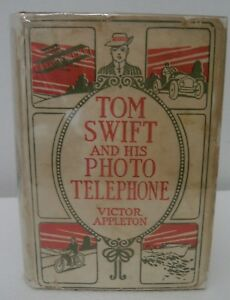 Tom Swift and His Photo Telephone HB scarce white quad DJ 1914 G&D Grosset