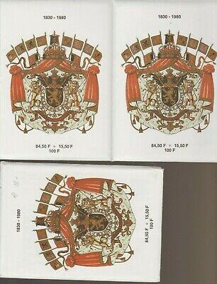 Belgique België, 3 Set de cartes modernes neuves, bien