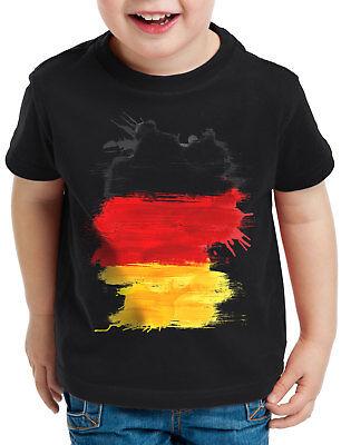 Deutschland T-Shirt Kinder Fußball Sport WM EM Fahne National-Flagge Fan-Artikel