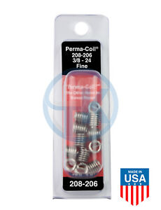 Perma Coil 208-206 Thread Insert Pack 3/8-24 12PC UNF Helicoil R1191-6