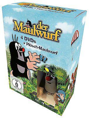 4 DVDs * PAULI DER KLEINE MAULWURF 1 - 4 + PLÜSCH MAULWURF IN BOX # NEU OVP +