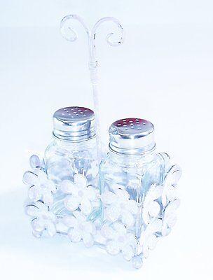 Marvells Glass Chrome Salt and Pepper Cruet Condiment Set