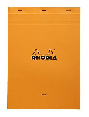 Rhodia Staplebound - Notepad - Orange - Lined W Margin - 8.25 X 11.75