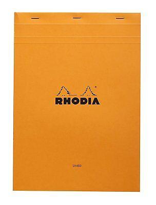 Rhodia Staplebound - Notepad - Orange - Lined W Margin - 8.25 X 11.75