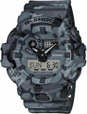 NEW Casio G-Shock GA700CM-8A Grey Camo Sport Digital Water Resistant Men's Watch