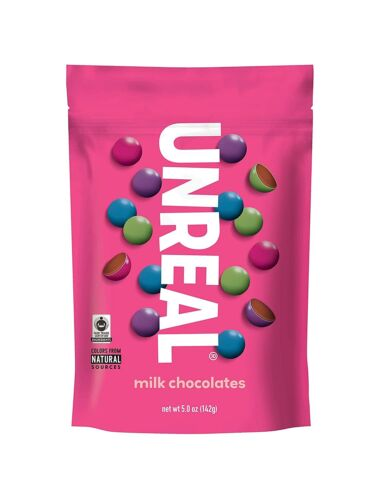 UNREAL Milk Chocolate Gems, 5 OZ (Pack of 6)