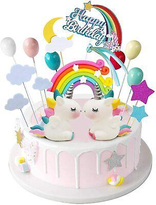 Einhorn Cake Topper | Kuchen Tortenaufleger Geburtstag Birthday Kindergeburtstag